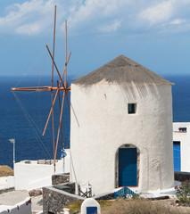 Wall Mural - Windmill in Oia