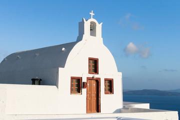 Wall Mural - Small chapel in Oia, Santorini
