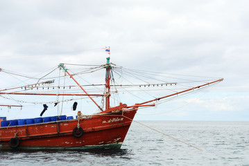 Fishing boat on Andaman sea
