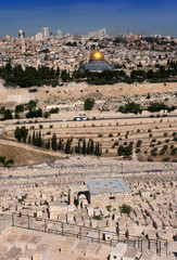 Old Jerusalem. View from Oliva Mount