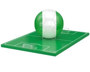 Ballon Nigeria sur terrain de football