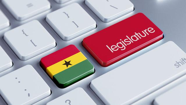 Ghana Legislature Concept.