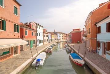 Murano and Burano island, street with glass store