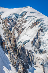 Mont Blanc massif in the French Alps Chamonix Mont Blanc