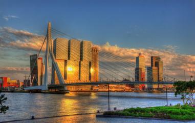 Photo sur Aluminium Rotterdam View of Rotterdam - Netherlands