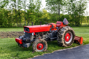 Bright Red Tractor