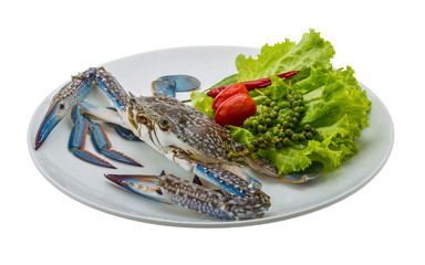 Raw blue crab