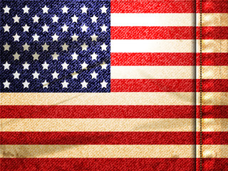 Denim american flag