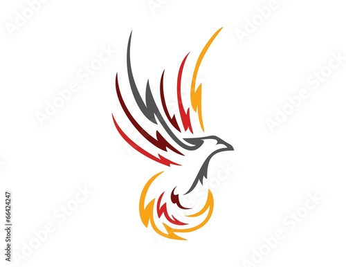 bird logo phoenix flying symbol wings icon stock image and royalty rh fotolia com phoenix bird symbol phoenix bird logos png