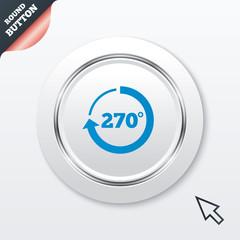 Angle 270 degrees sign icon. Geometry math symbol