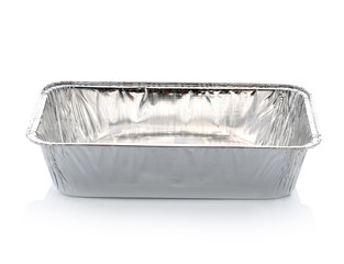Foil Container isolated on white background.