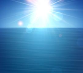 Tropical sunny summer sea.