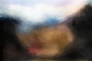 Colorful abstract watercolor blur