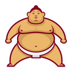 Sumo wrestler in rack