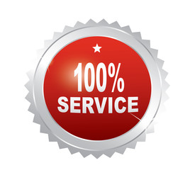 Label - 100% service