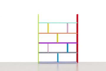 shelves color on white