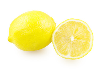 One whole lemon and one with a lemon slice