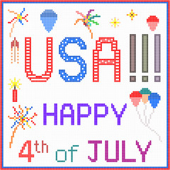 Happy July 4th in Pixels