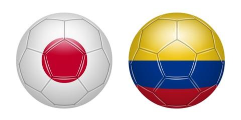 Football. Japan Colombia