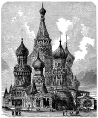 St Basil's Cathedral - Moscow - View 19th century