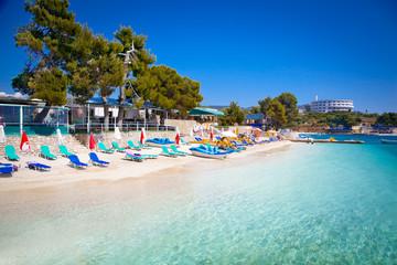 Beautiful Ksamil beach in Albania.
