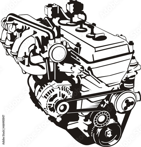 """""""car engine silhouette"""" Stock image and royalty-free ..."""