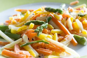 Gemüse Julienne Schnitt
