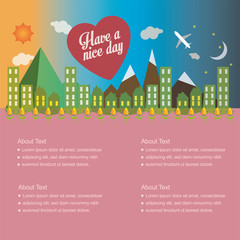 have a nice day vector illustration