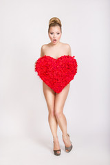 Pin-up girl with big heart