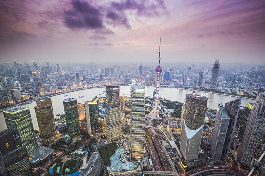 Shanghai, China Aerial View