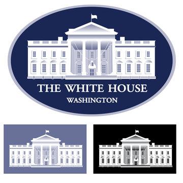White House - detailed vector illustration