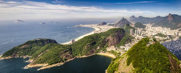 Canvas Print - Panorama Blick vom Zuckerhut in Rio de Janeiro, Brasilien