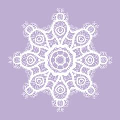 White round pattern