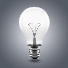 3d image of light bulb