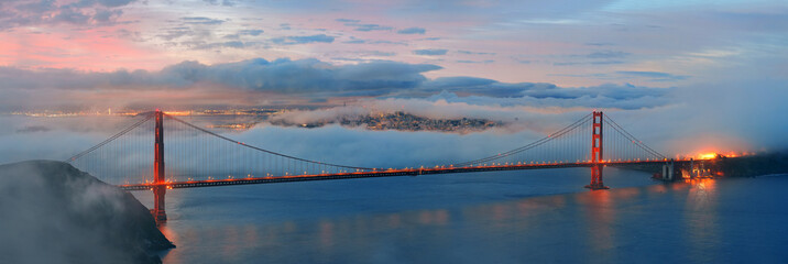 Printed kitchen splashbacks Bridges Golden Gate Bridge