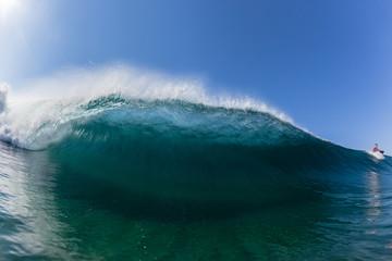 Wave Swimming Crashing Hollow Water Surfer
