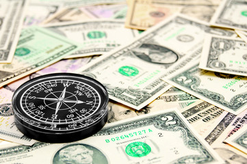 compass on the dollars.