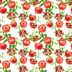Seamless pattern of pomegranates