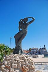 Mermaid statue Cascais, Portugal.