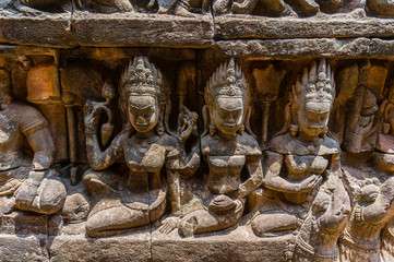 The Terrace of Elephants Wall Carvings