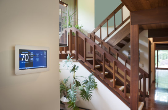 Smart wall energy control thermostat