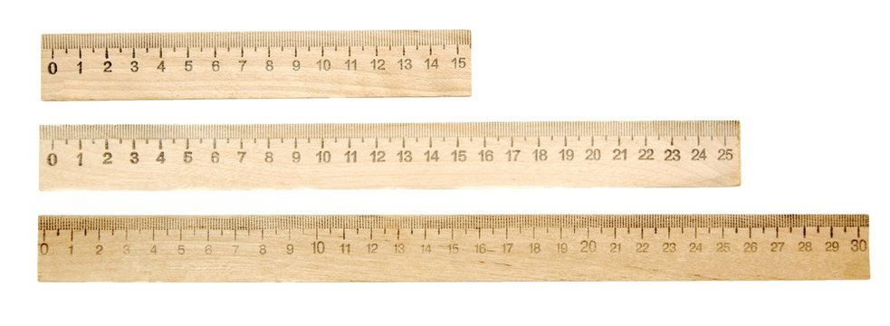 Rulers on a white background.