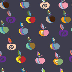 seamless pattern with colorful apples