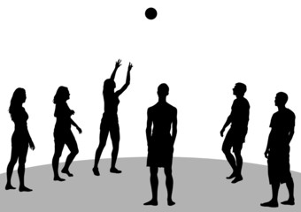 Volleyball on beach