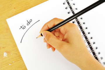"Writing ""to do"" list"