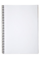 blank background. paper spiral notebooks isolated on white