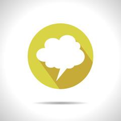 Vector callout cloud icon. Eps10