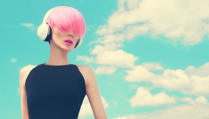 Fashion Girl. Sky. Music
