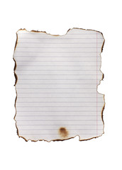 burnt paper line
