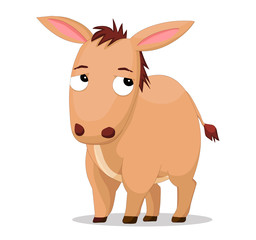 Illustration of cute donkey